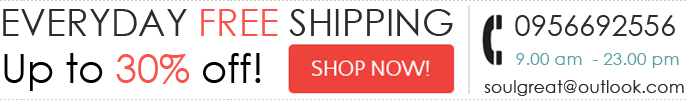 Everyday free Shipping & Sale up to 30% off!