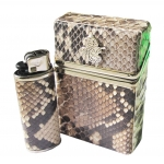 กระเป๋าใส่ซองบุหรี่ ดีไซน์ที่แตกต่าง หนังงูเหลือมเเท้ 100 % ไม่เหมือนใคร