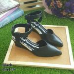 ZARA lady's shoes พร้อมส่ง รองเท้าหัวแหลมส้นเตารีด สีดำ