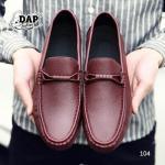 รองเท้าหนังผู้ชายแฟชั่น (สีแดง)