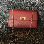 Charles and Keith Quilted Chain Shoulder Bag กระเป๋าทรงกล่องลายข้าวหลามตัด