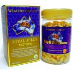 Wealthy Health Royal Jelly 1000 mg. 2%10DHA 365 Caps (อาหารเสริมโดมทาน) นมผึ้ง ปกป้องเซลล์ในร่างกาย ฟื้นฟูเซลล์ คงความอ่อนเยาว์และความสวย