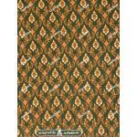 ผ้าลายไทย no.0041 สีเขียว