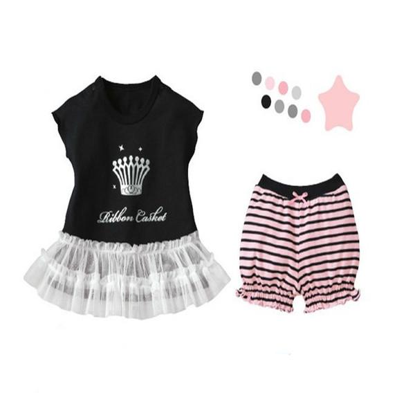 พร้อมส่ง เสื้อผ้าเด็กทารก 0-6-1-2 ปี ราคาส่งจากโรงงาน ชุดเด็กหญิงเสื้อแขนกุด รหัส YH601 สีดำ ลายมงกุฎ 1 ชุด สีไซร์ 80 (ส่วนสูง 66-73cm )