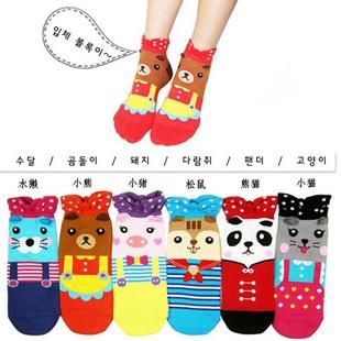 A005**พร้อมส่ง**(ปลีก+ส่ง) ถุงเท้าแฟชั่นเกาหลี แบบข้อย่น มี 6 แบบ เนื้อดี งานนำเข้า( Made in Korea)