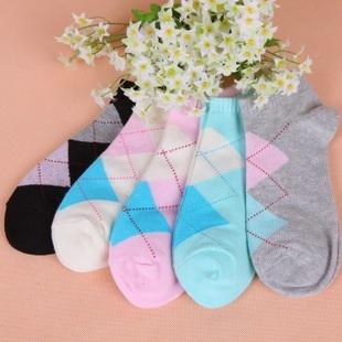 S344 **พร้อมส่ง** (ปลีก+ส่ง) ถุงเท้าแฟชั่นเกาหลี ข้อสั้น คละ 5 สี มี 12 คู่/แพ็ค เนื้อดี งานนำเข้า(Made in China)