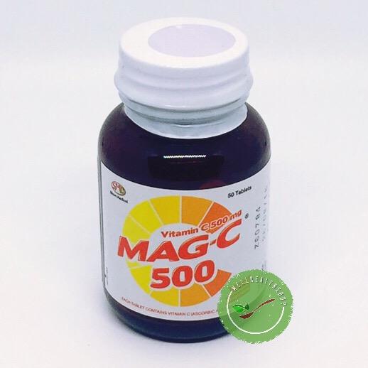 Mag-C 500 mg 50 tab แม็กซี 500