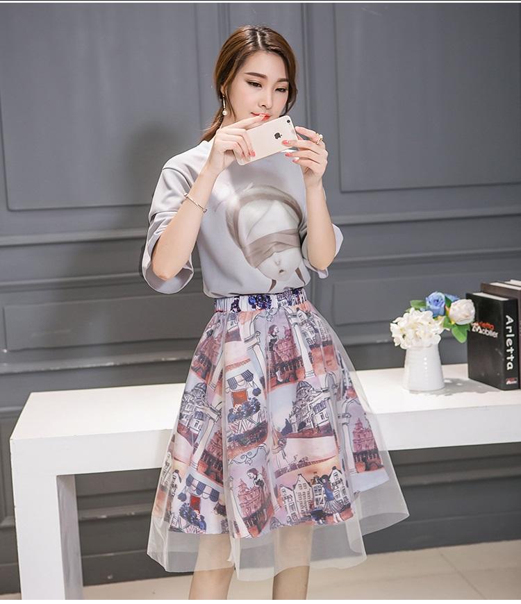 แฟชั่นเกาหลี set เสื้อ และกระโปรง น่ารักมากๆ ครับ
