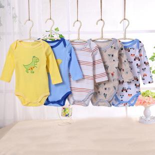 พร้อมส่ง เสื้อผ้าเด็กทารก เสื้อแขนยาวผ้ารัดรูปสามเหลี่ยม Romper รหัส T-66002 ขายส่งชุดทารกเพศหญิงยกแพ็ค 5 ชุดสุ่มแบบ ไซร์ 3 M (เด็ก 0-3 เดือน ) /1 แพ็ค 5 ชุด ชุดละ 100 บาท