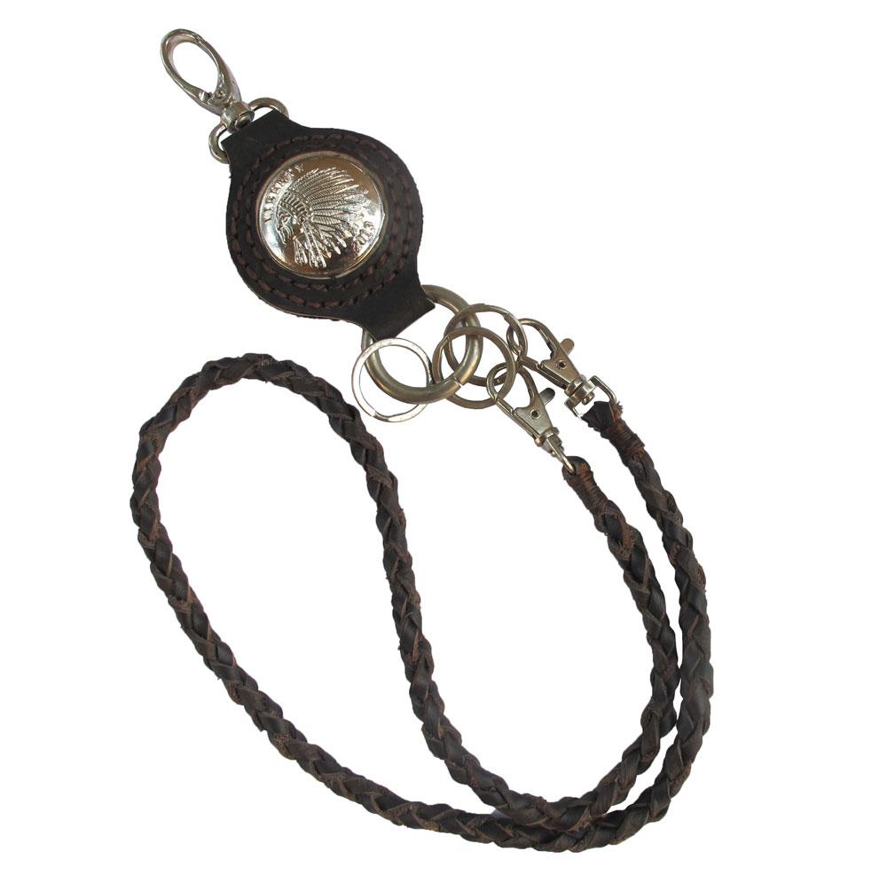 เชือกหนังถัก หนังวัวแท้ สำหรับ คล้องเข้ากับกระเป๋า และหูกางเกง + พวงกุญแจ สำเนา