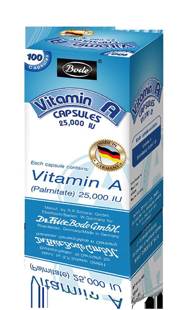 Bode Vitamin A 25000iu วิตามิน เอ บำรุงสายตา