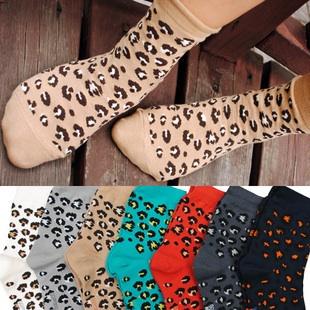 S178 **พร้อมส่ง** (ปลีก+ส่ง) ถุงเท้าแฟชั่นเกาหลี ลายเสือ ข้อสั้น เนื้อดี งานนำเข้า(Made in China)