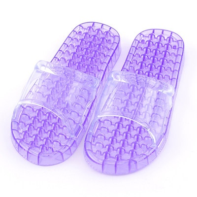K012-PU**พร้อมส่ง** (ปลีก+ส่ง) รองเท้านวดสปา เพื่อสุขภาพ ปุ่มเล็ก (ใส) สีม่วง ส่งคู่ละ 80 บ.