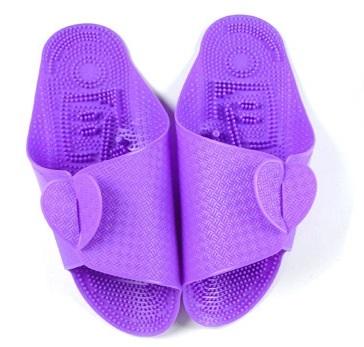 K018-PU **พร้อมส่ง** (ปลีก+ส่ง) รองเท้านวดสปา เพื่อสุขภาพ ปุ่มเล็ก แบบถอดประกอบได้ สีม่วง ส่งคู่ละ 80 บ.