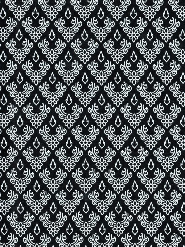 ผ้าลายไทย LT0066_bw ขาวดำ