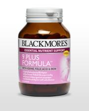 Blackmores 9 Plus Formula สูตรบำรุงเพื่อคุณแม่ เตรียมพร้อมก่อนตั้งครรภ์-ตั้งครรภ์ เพื่อคุณแม่ และ ลูกน้อย