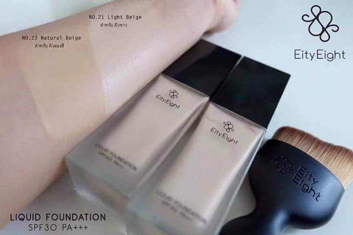 EITY EIGHT LIQUID FOUNDATION SPF 30 PA+++ เซทละ 850บาท