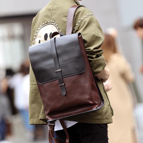 Pre-order กระเป๋าเป้สะพายหลัง ใส่คอมพิวเตอร์ 14 นิ้วผู้ชาย แฟขั่นเกาหลี รหัส Man-1202 สีน้ำตาล