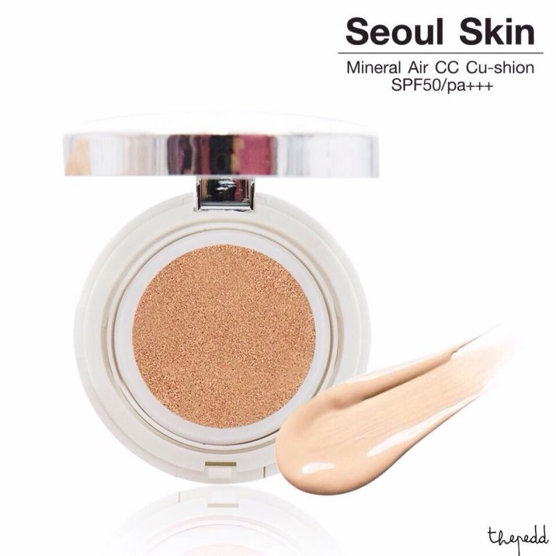 Soul Skin Mineral Air CC Cushion SPF50/PA+++ แป้งพัฟ สูตรน้ำ