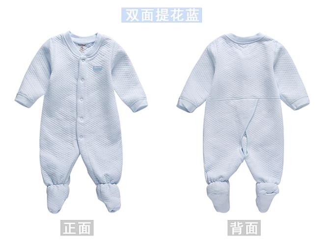 พร้อมส่ง เสื้อผ้าเด็กทารกแรกเกิด 0-1 ปี ราคาส่งจากโรงงาน ใช้ได้ทั้งเด็กหญิงเด็กชาย jump suit Romper ชุดหมี แขน-ขายาวคลุมเท้า รหัส T-13020 สีฟ้า ไซร์ 52 (ส่วนสูง 52cm )