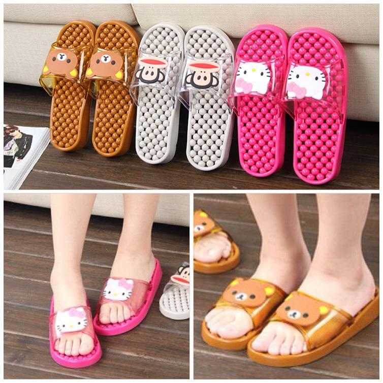 K011 **พร้อมส่ง** (ปลีก+ส่ง) รองเท้านวดสปา เพื่อสุขภาพ ปุ่มเล็ก (การ์ตูน) ส่งคู่ละ 150 บ.