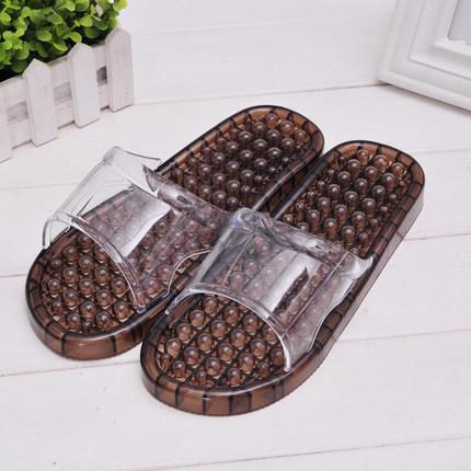 K021-BK**พร้อมส่ง** (ปลีก+ส่ง) รองเท้านวดสปา เพื่อสุขภาพ สีดำ ปุ่มเล็ก(ใส)แบบนิ่ม ส่งคู่ละ 120 บ.
