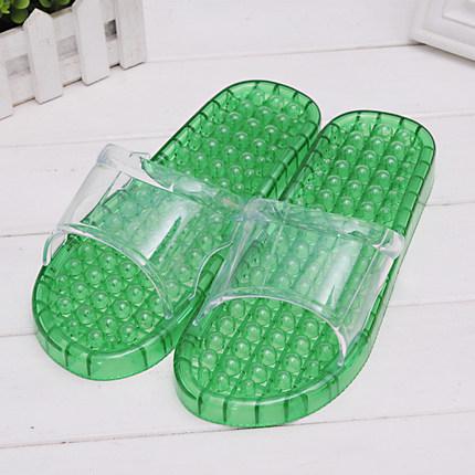 K021-GR**พร้อมส่ง** (ปลีก+ส่ง) รองเท้านวดสปา เพื่อสุขภาพ สีเขียว ปุ่มเล็ก(ใส)แบบนิ่ม ส่งคู่ละ 120 บ.