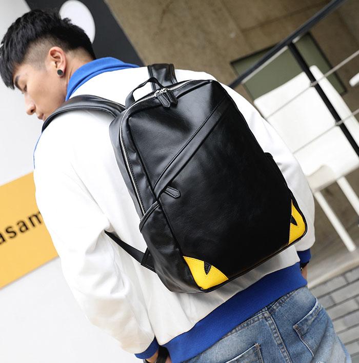 Pre-order กระเป๋าเป้สะพายหลัง ใส่คอม ใส่ ipad กันน้ำได้ แฟชั่นเกาหลี รหัส Man-9924-7 สีดำ