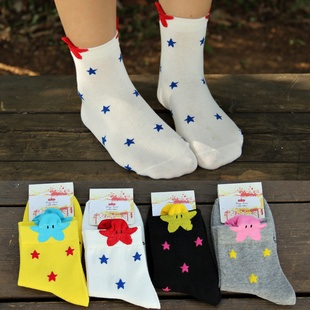 S064**พร้อมส่ง** (ปลีก+ส่ง) ถุงเท้าแฟชั่นเกาหลี ข้อสูง เนื้อดี งานนำเข้า(Made in china)