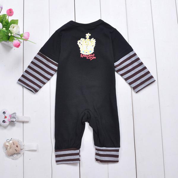 พร้อมส่ง เสื้อผ้าเด็กทารก 0-1 ปี ราคาส่งจากโรงงาน ใช้ได้ทั้งเด็กหญิงเด็กชาย Romperชุดหมี แขน-ขายาว รหัส D092 สีดำลายหุ่นยนต์ ไซร์ 70 (ส่วนสูง 59-66cm )