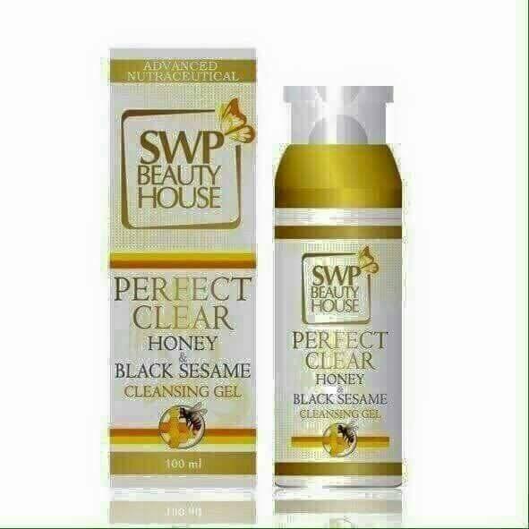 SWP Perfect Clear Honey & Black sesame Cleansing Gel เอส ดับเบิ้ลยู พี เจลล้างหน้า น้ำผึ้งงาดำ เจลล้างหน้าใส ลดสิว เรื่องความสวย หน้าใส