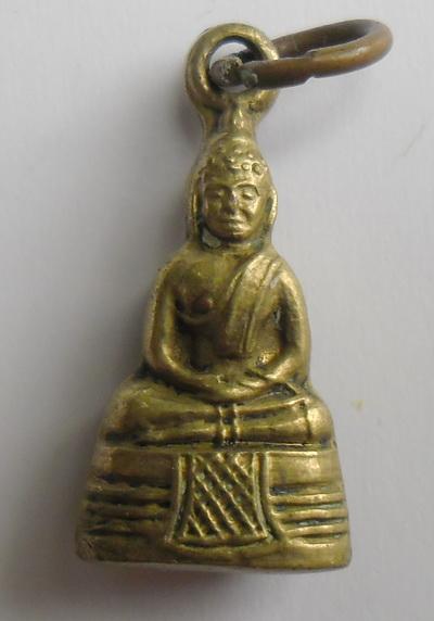 พระกริ่งเล็กหลวงพ่อโสธร เนื้อทองเหลือง ปี 2512