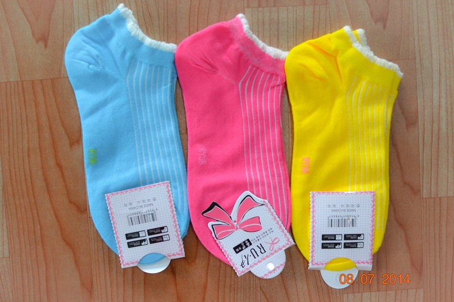S252**พร้อมส่ง** (ปลีก+ส่ง) ถุงเท้าแฟชั่นเกาหลี ข้อสั้น เนื้อดี งานนำเข้า(Made in China)