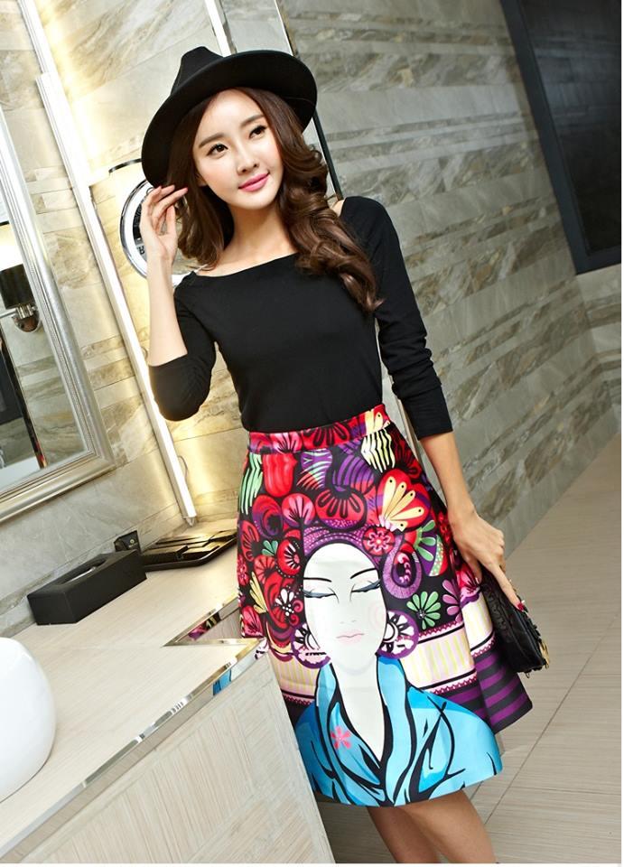 เสื้อผ้าแฟชั่นเกาหลี set เสื้อ และกระโปรง สวยมากๆ