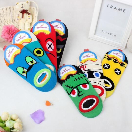 S081**พร้อมส่ง**(ปลีก+ส่ง) ถุงเท้าแฟชั่นเกาหลี ลายอารมณ์ เนื้อดี งานนำเข้า(Made in china)