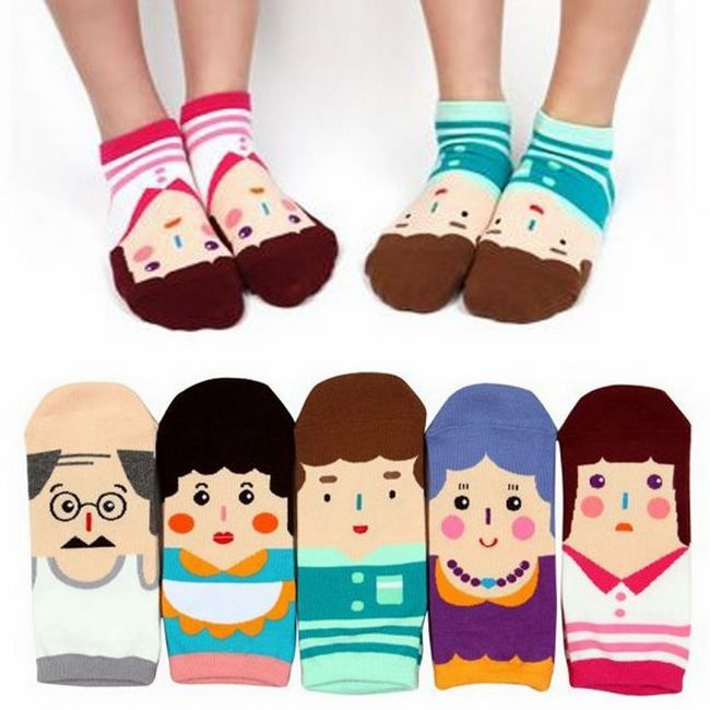 A049**พร้อมส่ง**(ปลีก+ส่ง) ถุงเท้าแฟชั่นเกาหลี ข้อสั้น มี 5 แบบ เนื้อดี งานนำเข้า( Made in Korea)