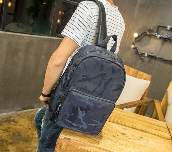 Pre-order กระเป๋าเป้สะพายหลัง ใส่คอม ใส่ ipad กันน้ำได้ แฟชั่นเกาหลี รหัส Man-6420 สีน้ำเงิน