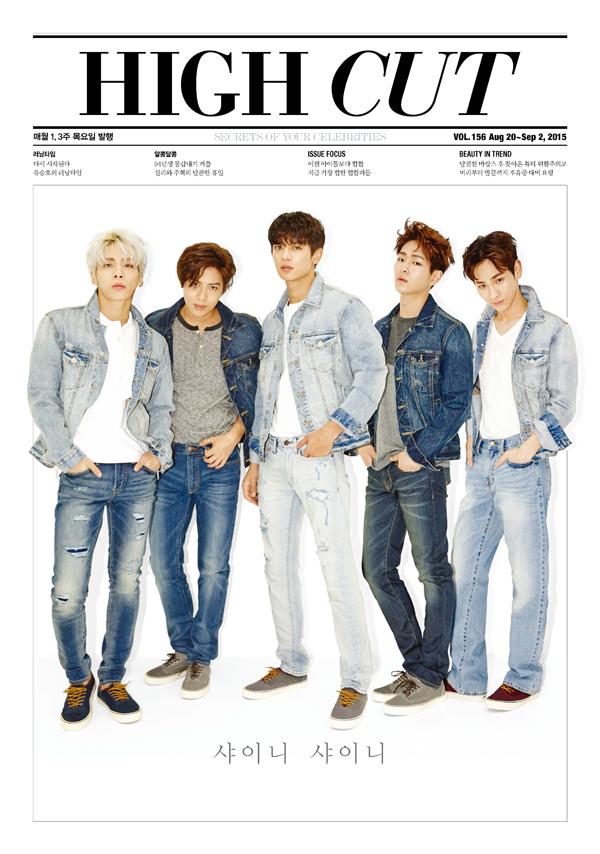 นิตยสารเกาหลี High Cut - Vol.156 หน้าปก shinee ด้านในมี นัมจูฮยอก ซอลลี่ ยูซึงโฮ พร้อมส่งค่ะ