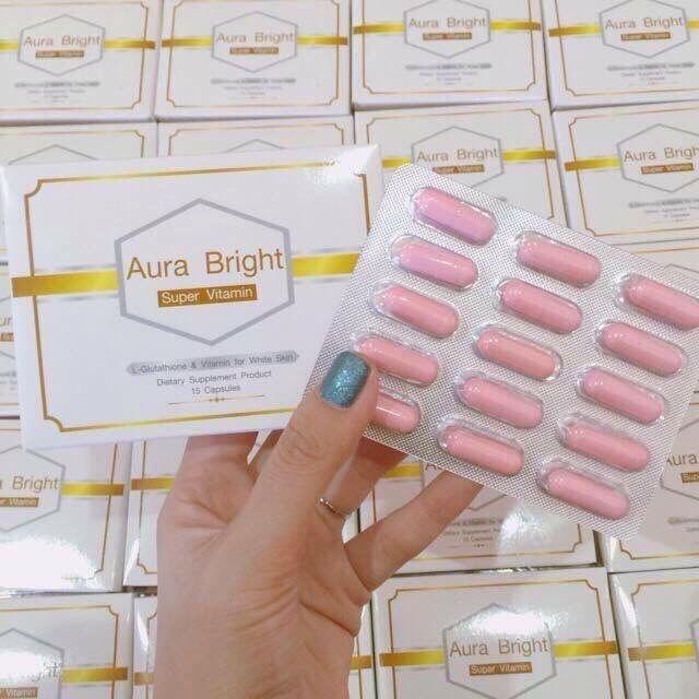 Aura Bright Super Vitamin ขาวไว ลดสิว หน้าเด็ก