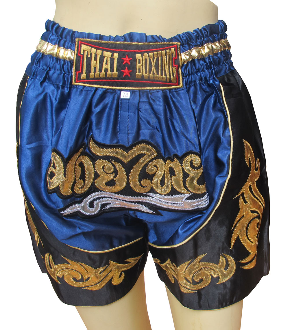 Thai Boxing Boxer For Kids Fit For Waist 24-25-26 Inches Size M กางเกงนักมวยไทยสำหรับเด็ก
