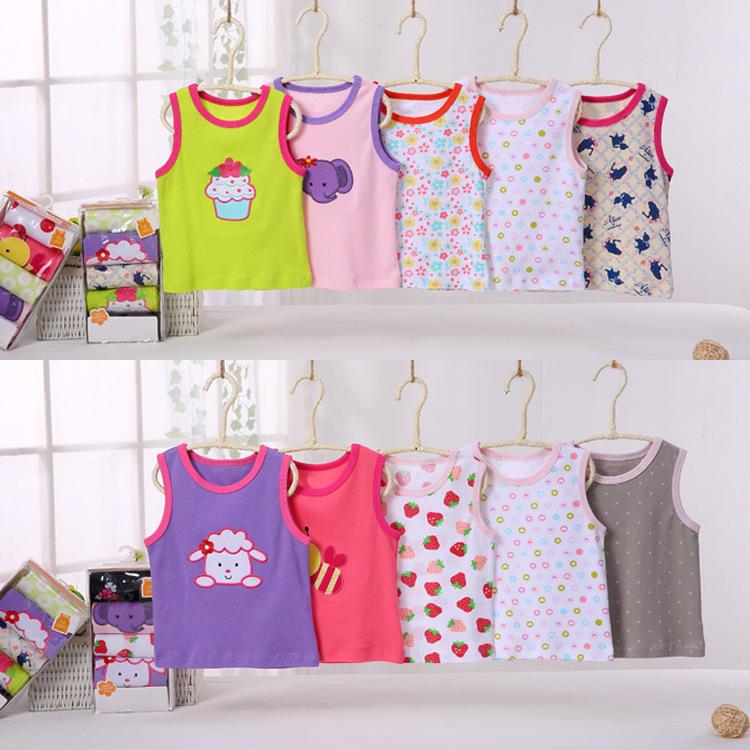 พร้อมส่ง gift set ชุดเด็กอ่อนทารกเพศหญิง เสื้อกล้าม เสื้อกั๊กแขนกุด ใส่หน้าร้อน T-66008 ไซร์ 3M (เด็ก 0-3 เดือน ) /1 แพ็ค 5 ชุดสุ่มแบบ ชุดละ 80 บาท