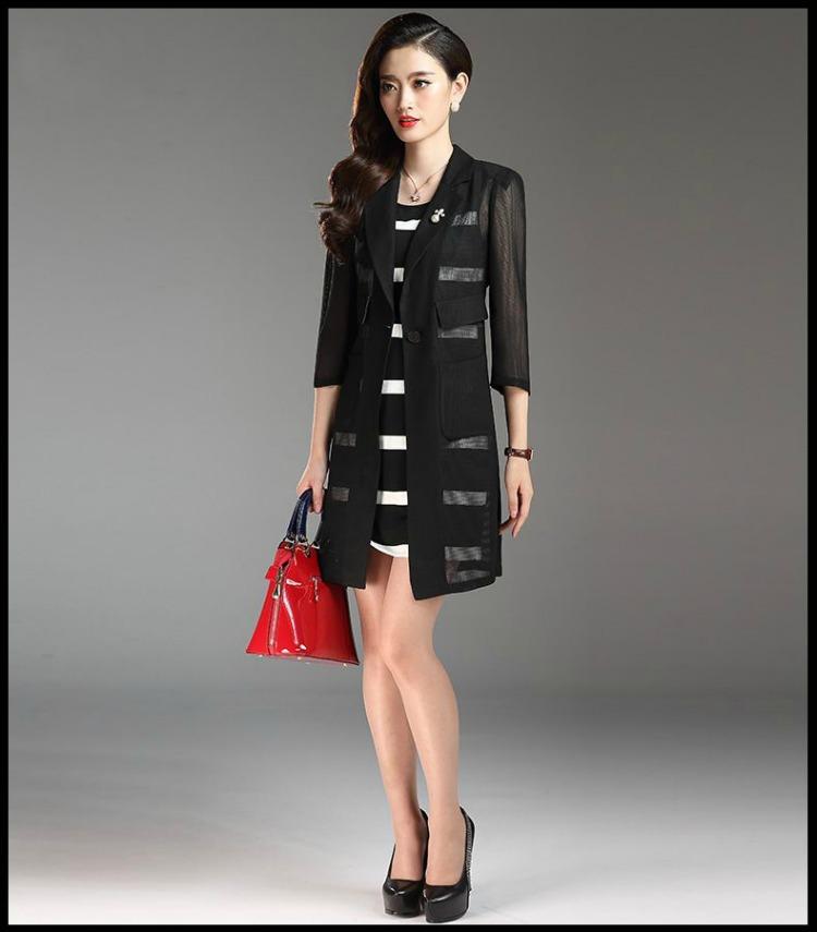 ชุดเดรสสีดำ ชุดสีดำ set เดรส และเสื้อคลุมสีดำ เดรสแขนกุดผ้าคอตตอนผสม