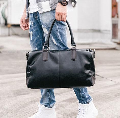 Pre-order กระเป๋าถือและสะพายไหล่ผู้ชาย แฟขั่นเกาหลี รหัส Man-B42 สีดำ