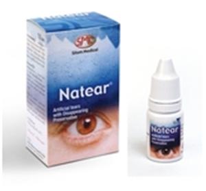 NATEAR น้ำตาเทียม 10 mL น้ำตาเทียมขวดเล็กชนิดพกพา ช่วยทำให้ตาชุ่มชื้น ไม่แสบเคือง
