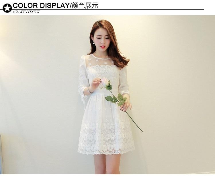 ชุดเดรสผ้าไหมแก้ว organza ปักด้วยด้ายลายดอกไม้สีขาว สวยมากๆ