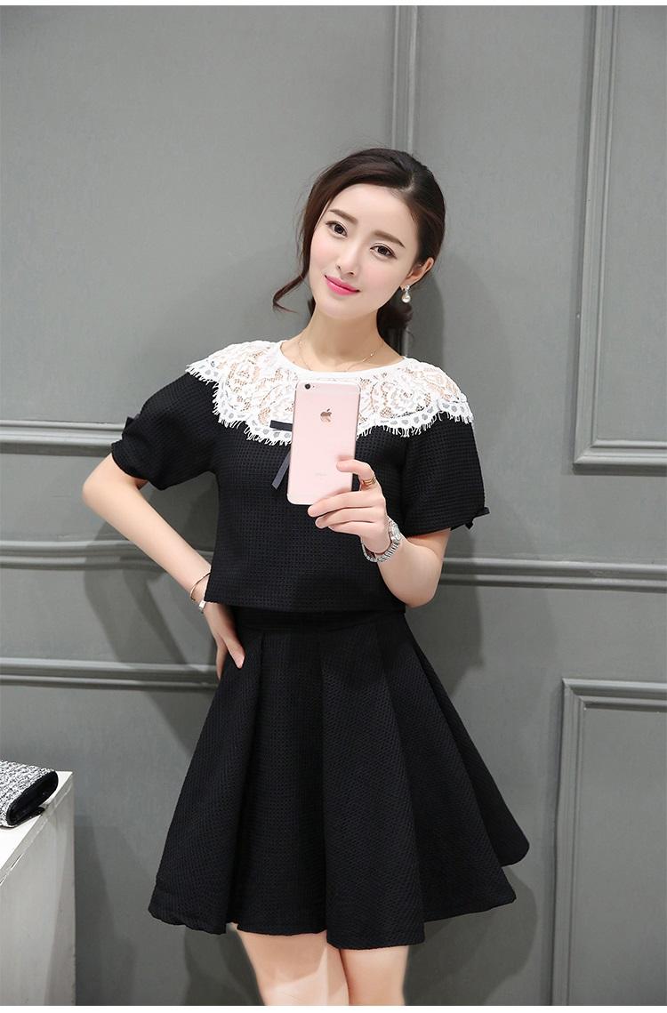แฟชั่นเกาหลี set เสื้อ และกระโปรงน่ารักสุดๆ ครับ
