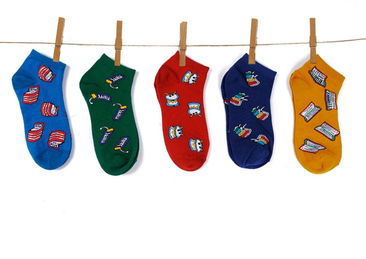S380**พร้อมส่ง** (ปลีก+ส่ง) ถุงเท้าแฟชั่นเกาหลี ข้อสั้น เนื้อดี งานนำเข้า(Made in china)