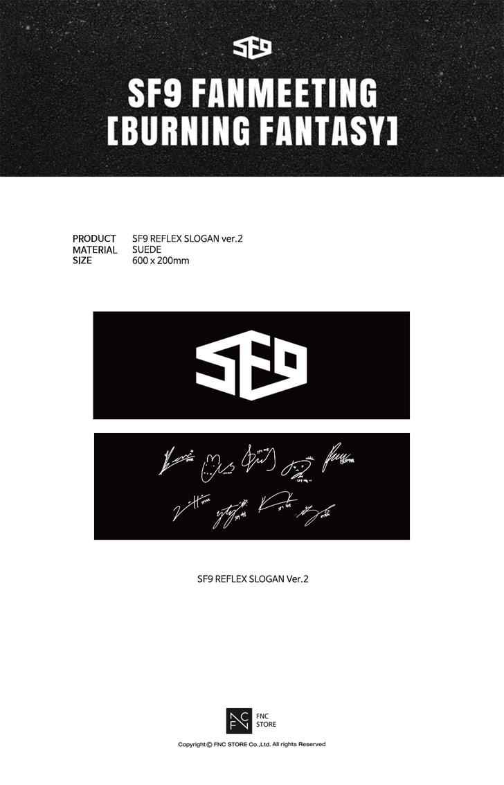 SF9 - REFLEX SLOGAN ver.2 [BURNING FANTASY] ผ้าเชียร์