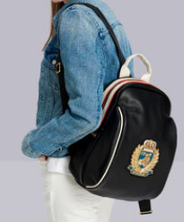 พร้อมส่งกระเป๋าเป้สะพายหลัง หนัง PU sunny-886 สีดำ 3 ใบ