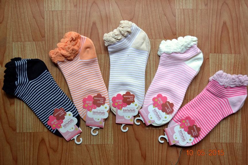 S391**พร้อมส่ง** (ปลีก+ส่ง) ถุงเท้าแฟชั่นเกาหลี ข้อสั้น แต่งขอบระบาย เนื้อดี งานนำเข้า(Made in china)